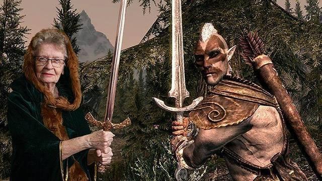 """Fans quieren inmortalizar a """"La abuela gamer"""" en The Elders Scrolls 1"""