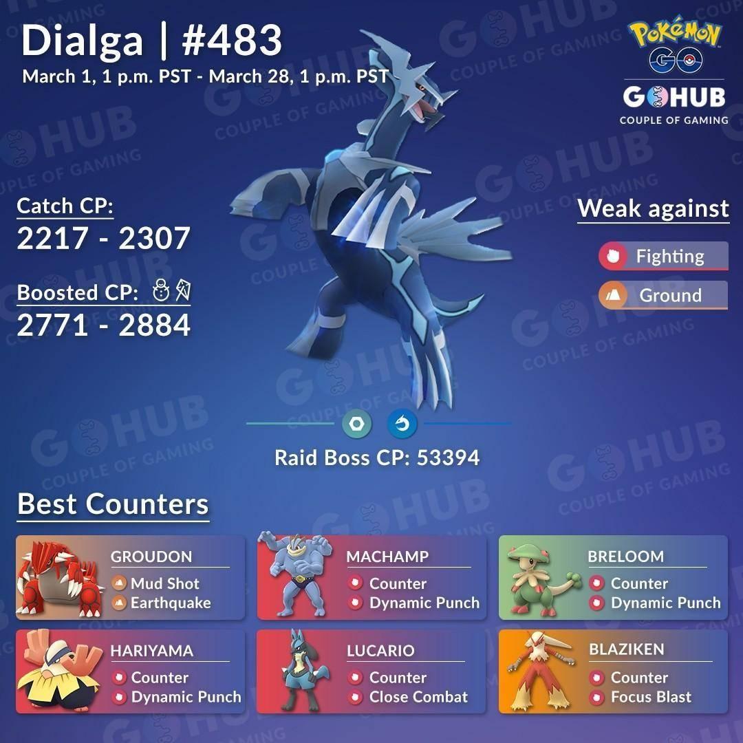 Pidele a tu novia un poco de tiempo... ¡Dialga en Pokémon Go! 3