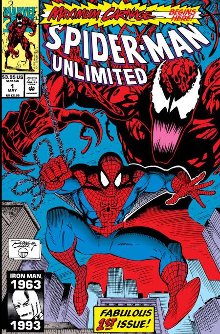 "Orden de publicación Parte 1: Spider-Man Unlimited (1993) - #1, ""Carnage Rising"" Parte 2: Web of Spider-Man (1985) - #101, ""Darklight"" Parte 3: The Amazing Spider-Man (1963) - #378, ""Demons on Broadway"" Parte 4: Peter Parker: Spider-Man (1990) - #35, ""Team Venom"" Parte 5: The Spectacular Spider-Man (1976) - #201, ""Over the Line!"" Parte 6: Web of Spider-Man (1985) - #102, ""Sinking Fast"" Parte 7: The Amazing Spider-Man (1963) - #379, ""The Gathering Storm"" Parte 8: Peter Parker: Spider-Man (1990) - #36, ""Hate is in the Air"" Parte 9: The Spectacular Spider-Man (1976) - #202, ""The Turning Point"" Parte 10: Web of Spider-Man (1985) - #103, ""Sin City"" Parte 11: The Amazing Spider-Man (1963) - #380, ""Soldiers of Hope"" Parte 12: Peter Parker: Spider-Man (1990) - #37, ""The Light!"" Parte 13: The Spectacular Spider-Man (1976) - #203, ""War of the Heart!"" Parte 14: Spider-Man Unlimited (1993) - #2, ""Conclusión: The Hatred, The Horror, and The Hero!"""