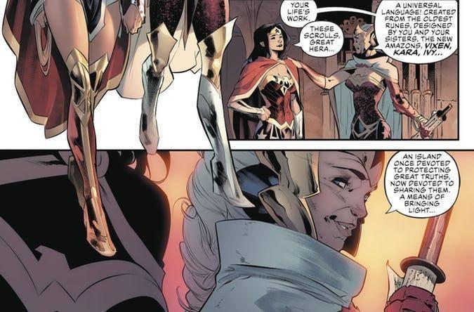 DC Comics modifica el origen de las Amazonas en Justice League #20 1