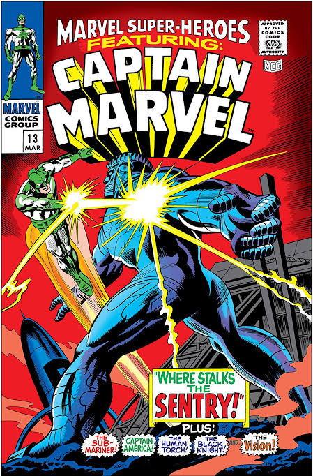 Marvel Super-Heroes #13 Featuring Captain Marvel (1968)