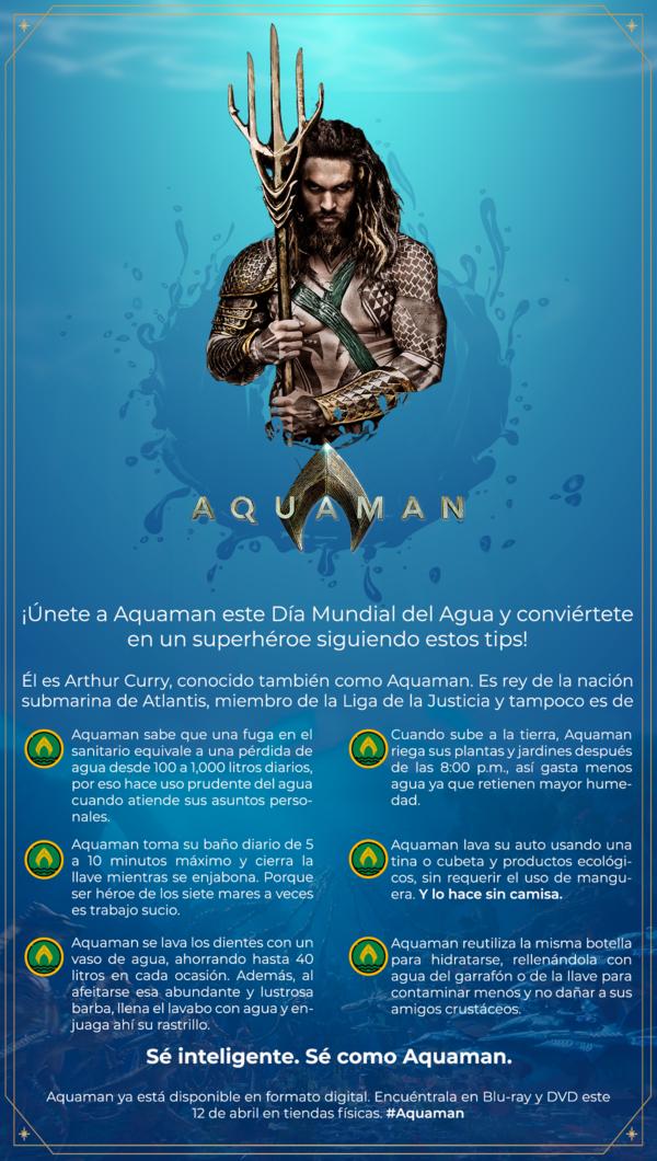 ¡Celebra el día mundial del agua con Aquaman siguiendo estos tips! 1