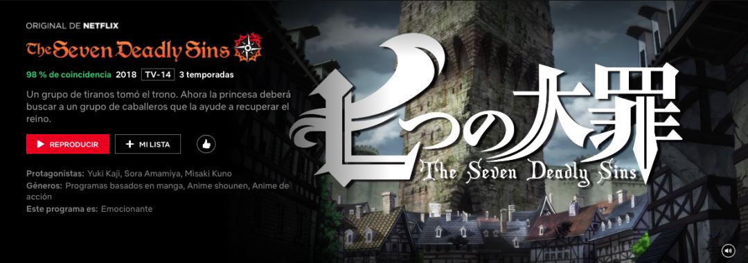 El Nuevo Anime de los Siete Pecados Capitales llega a TV en Otoño 3