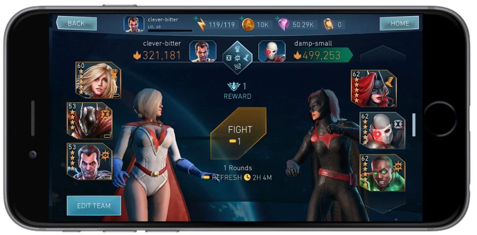Injustice 2 Mobile inicia la beta de Champions Arena 1