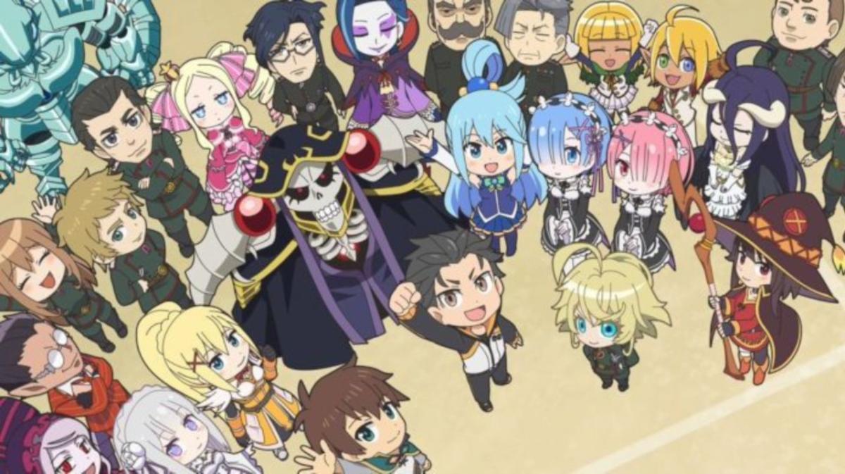 Conoce el anime crossover: Isekai Quartet 2