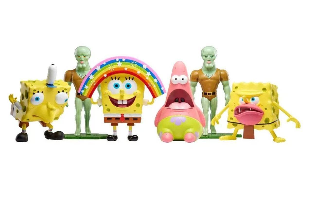 Nickelodeon presenta figuras de memes de Bob Esponja 6