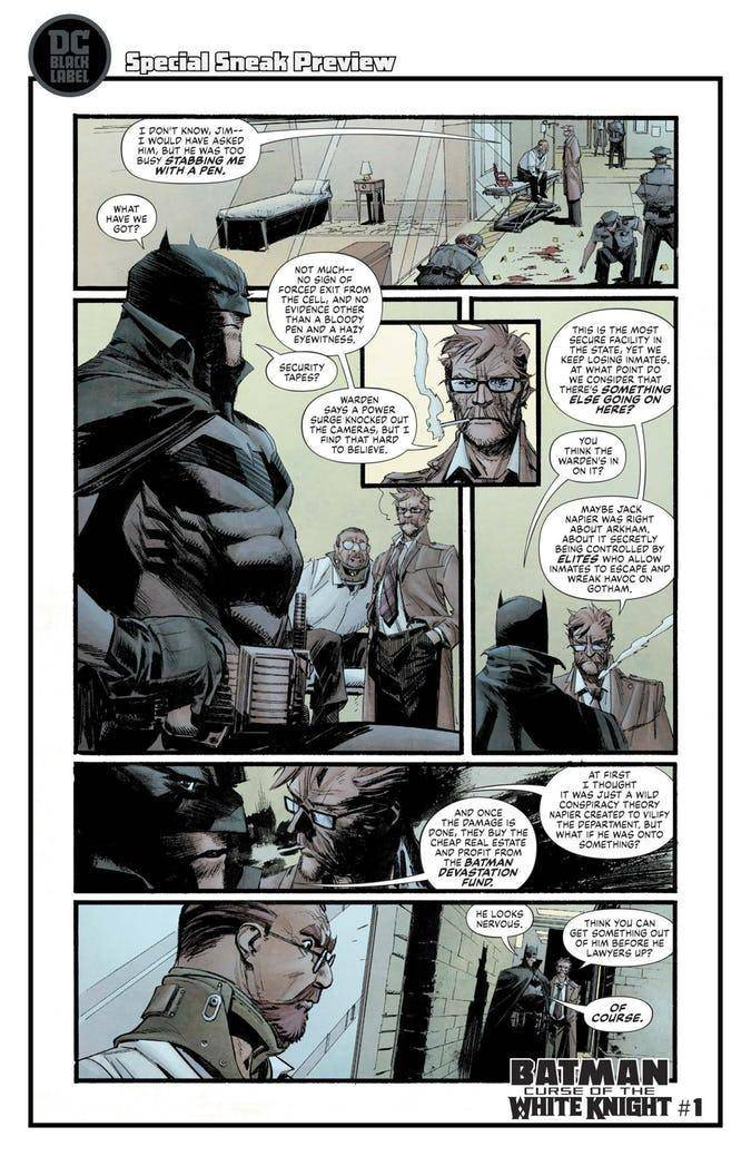 Batman: Curse of the White Knight, Preview