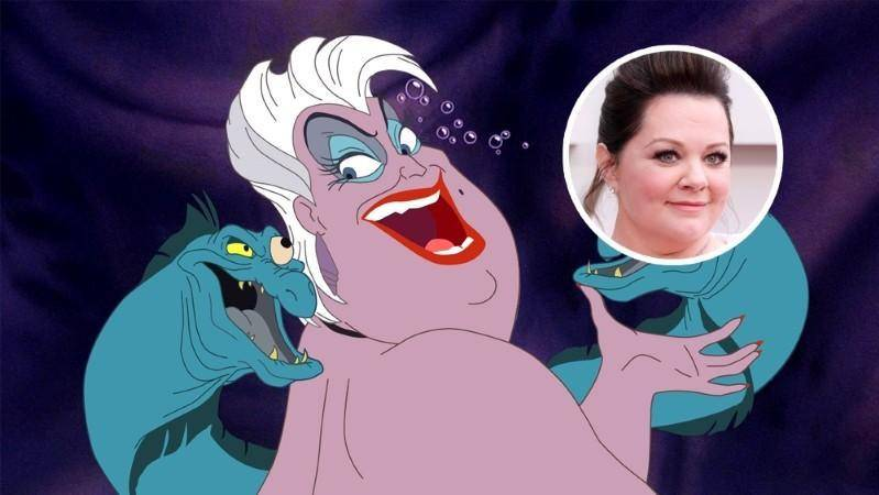"""Disney quiere a Melissa McCarthy como Ursula para el live-action de """"La Sirenita"""" 1"""