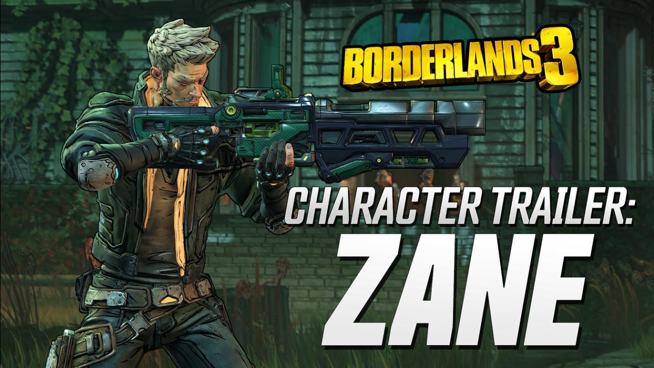 Conoce a Zane Flynt de Borderlands 3