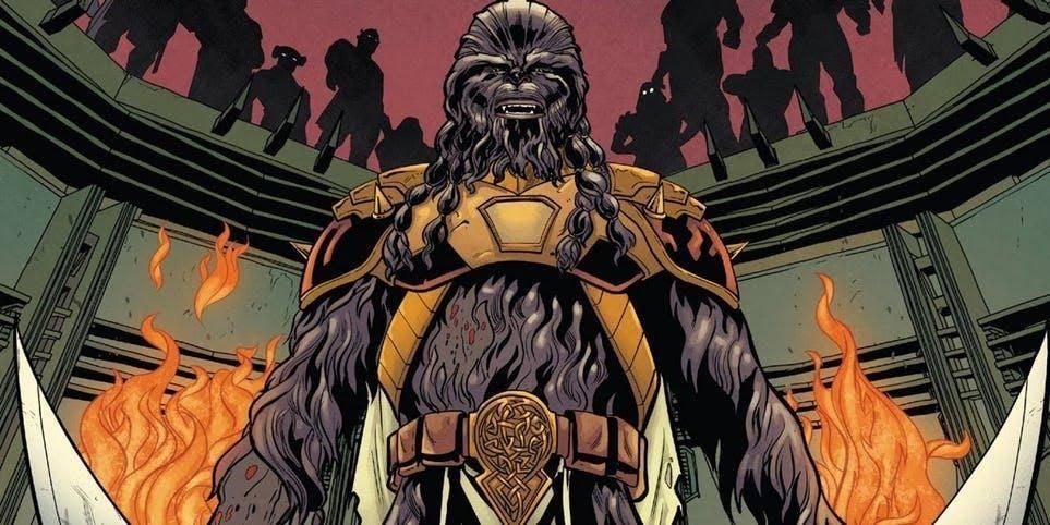 Tiene un Wookiee como compañero