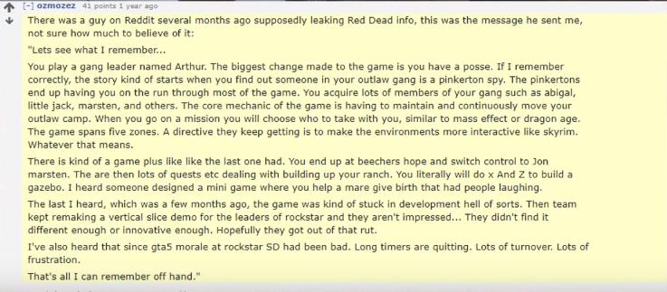 Reddit, Red Dead Redemption