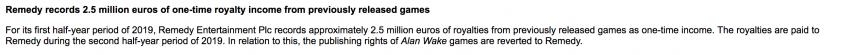 Remedy recupera los derechos de Alan Wake de Microsoft 1