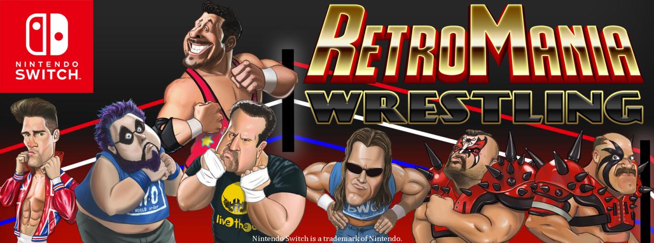 Retromania Wrestling se anuncia para el Nintendo Switch