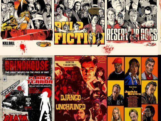 Collage de las películas de Tarantino