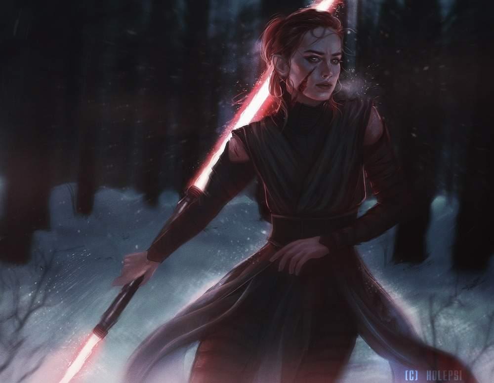 FanArt de Rey don el sable laser doble