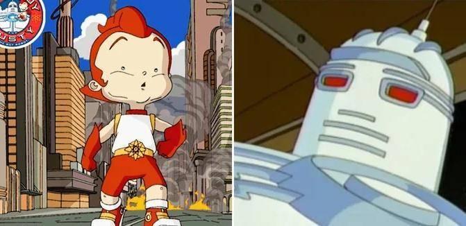 Big Guy y Rusty the Boy Robot