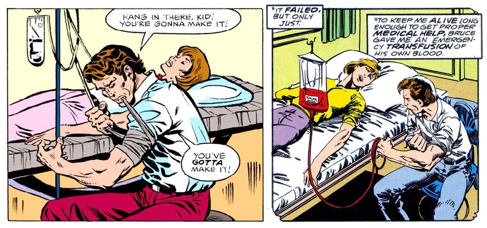 La transfusión de sangre de She-Hulk
