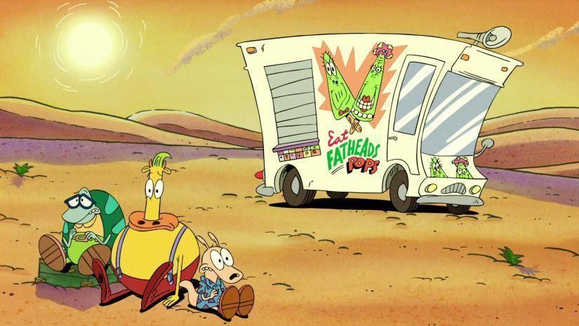 Camión de helados en el desierto para los protagonistas de Rocko's Modern Life Static Cling