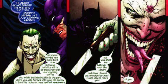 Joker se corta la lengua