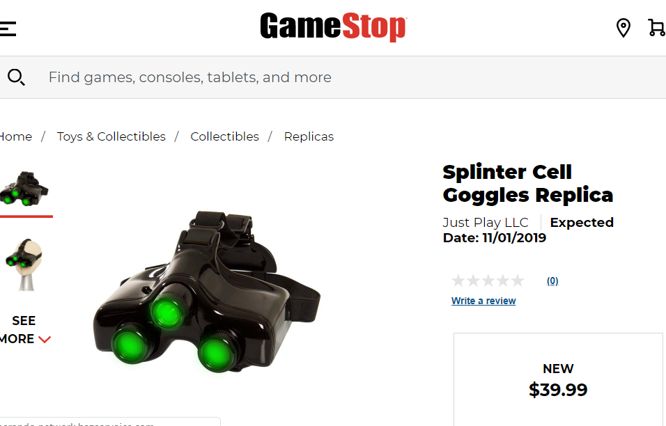 GameStop Splinter Cell