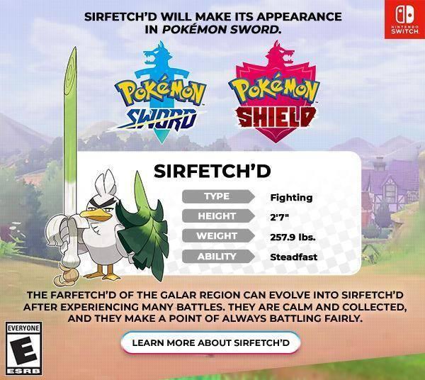 Sirfetch'd pokémon