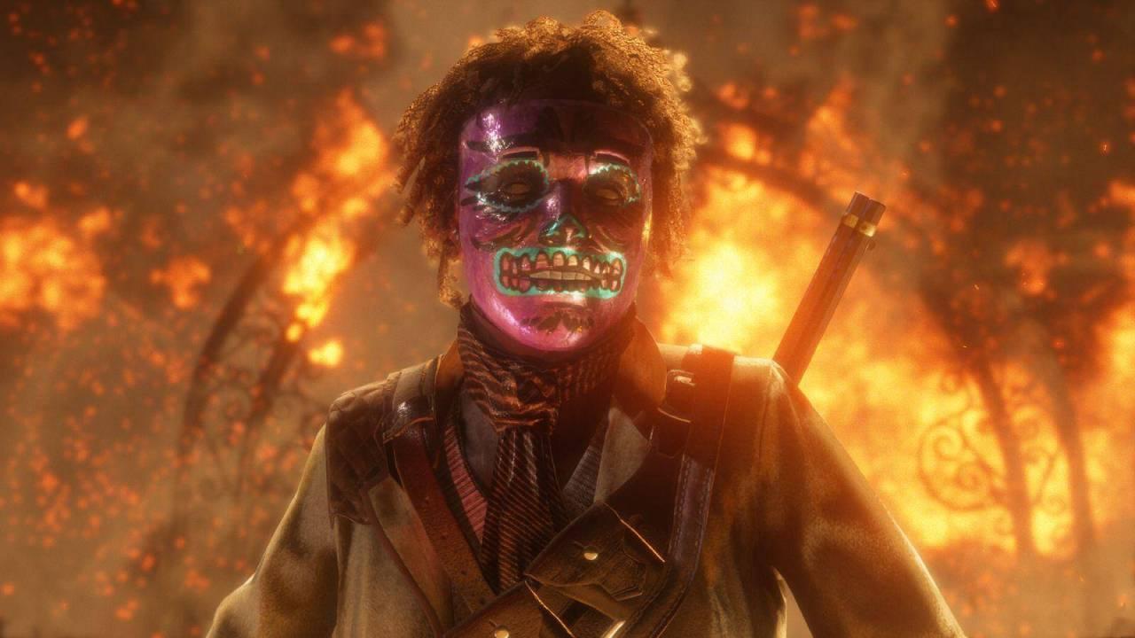Mascara Carnavalesca (Red Dead Online)