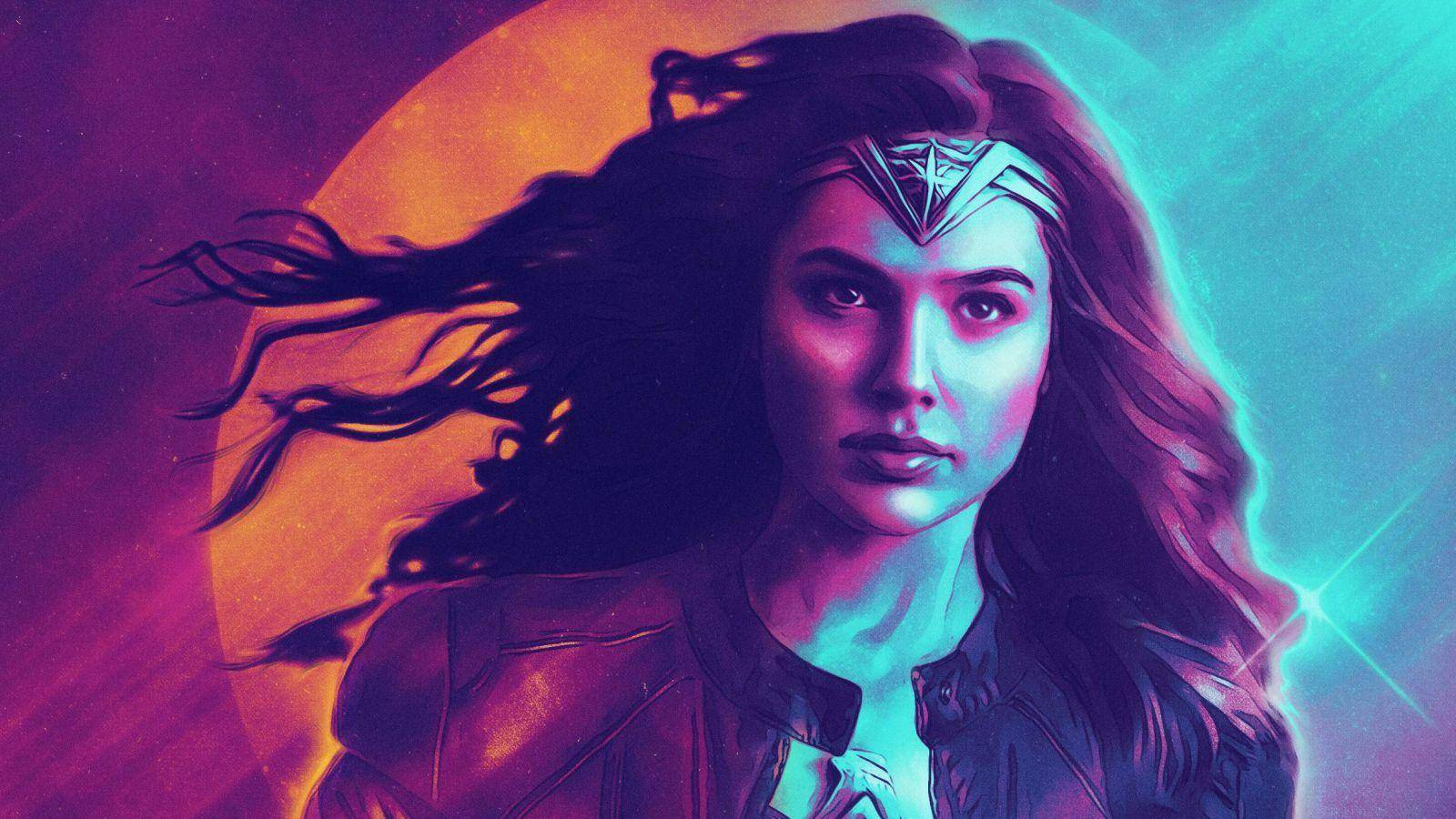 Wonder Woman Retrowave (Póster)