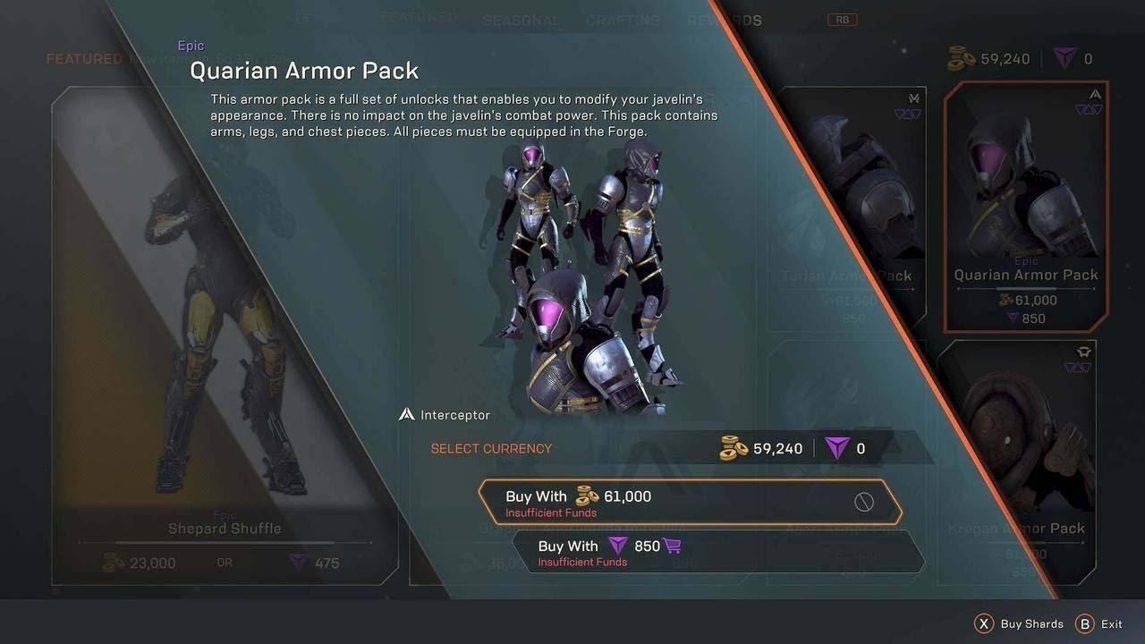 Mass Effect, Anthem, BioWAre, Armors