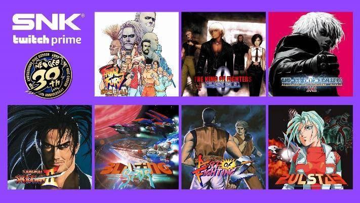 Twitch Prime te REGALARÁ más de 20 juegos de SNK 1