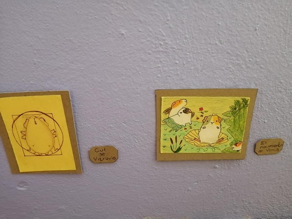 Exposición temporal Cui 20: una usuaria de Facebook recrea pinturas icónicas para sus cuyos 3
