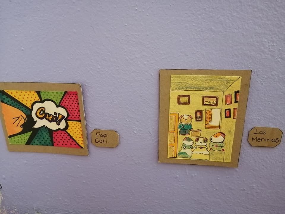 Exposición temporal Cui 20: una usuaria de Facebook recrea pinturas icónicas para sus cuyos 4