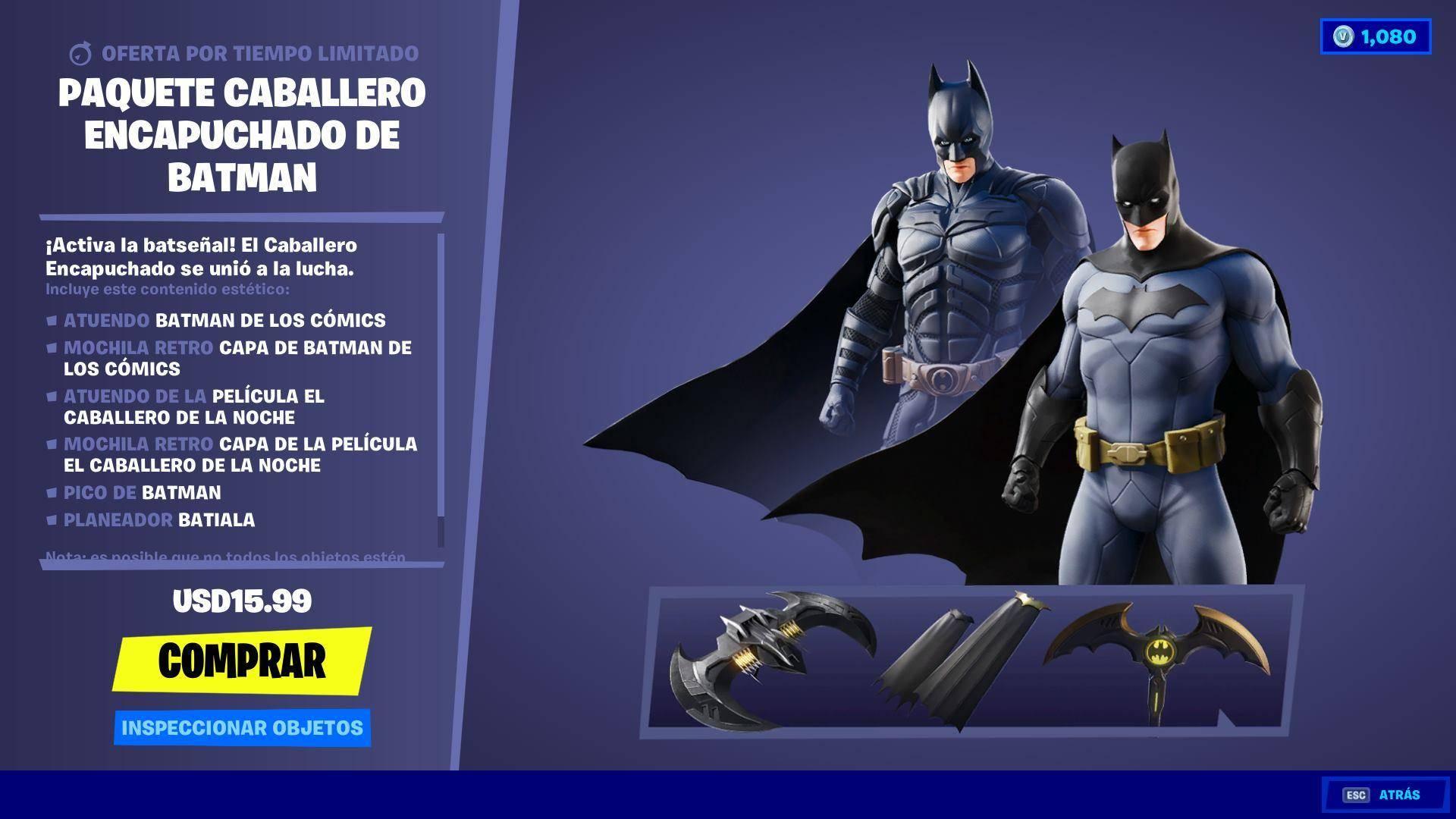 Batman y DC toman el control de Fortnite 2