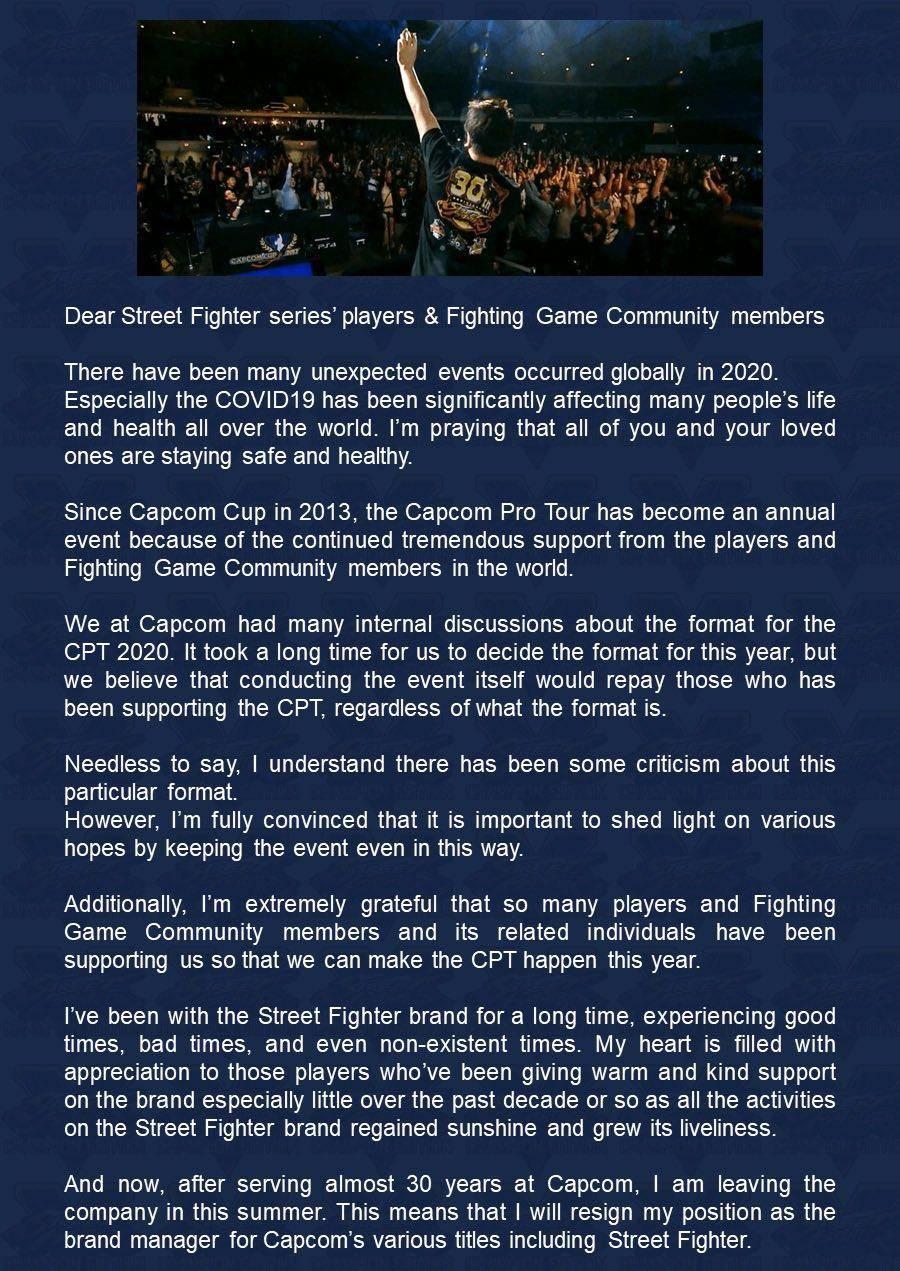 Yoshinori Ono abandona Capcom luego de 30 años 1