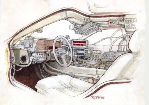 Ron Cobb, Back to the Future, DeLorean