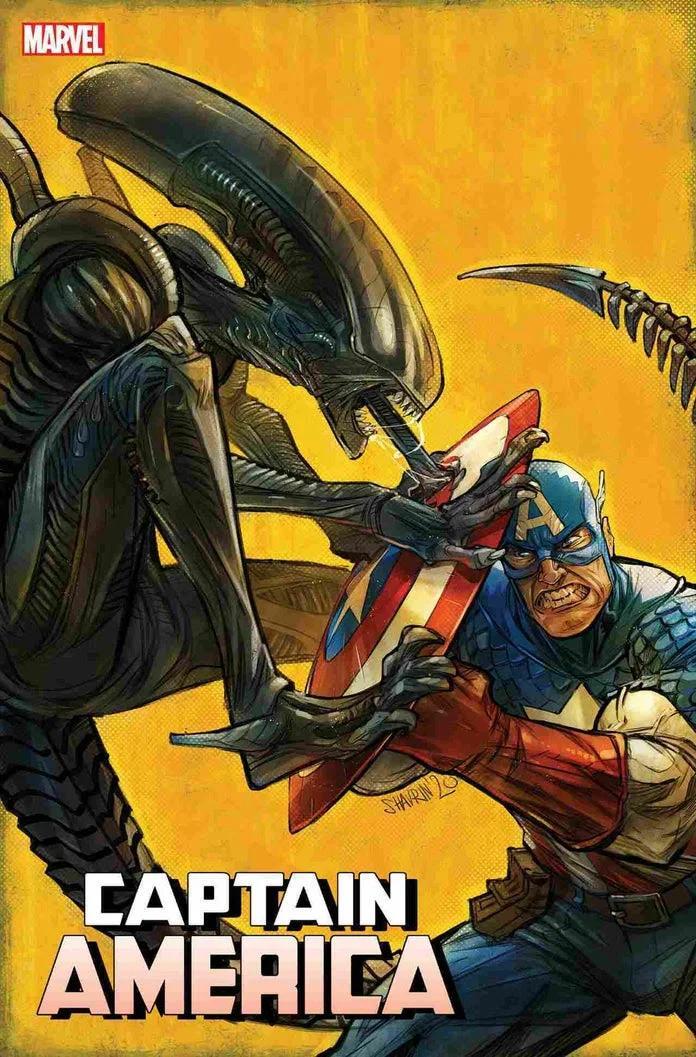 Marvel, Marvel vs Alien, Alien, Captain America