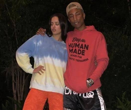 Rosalía y Pharrel Willams