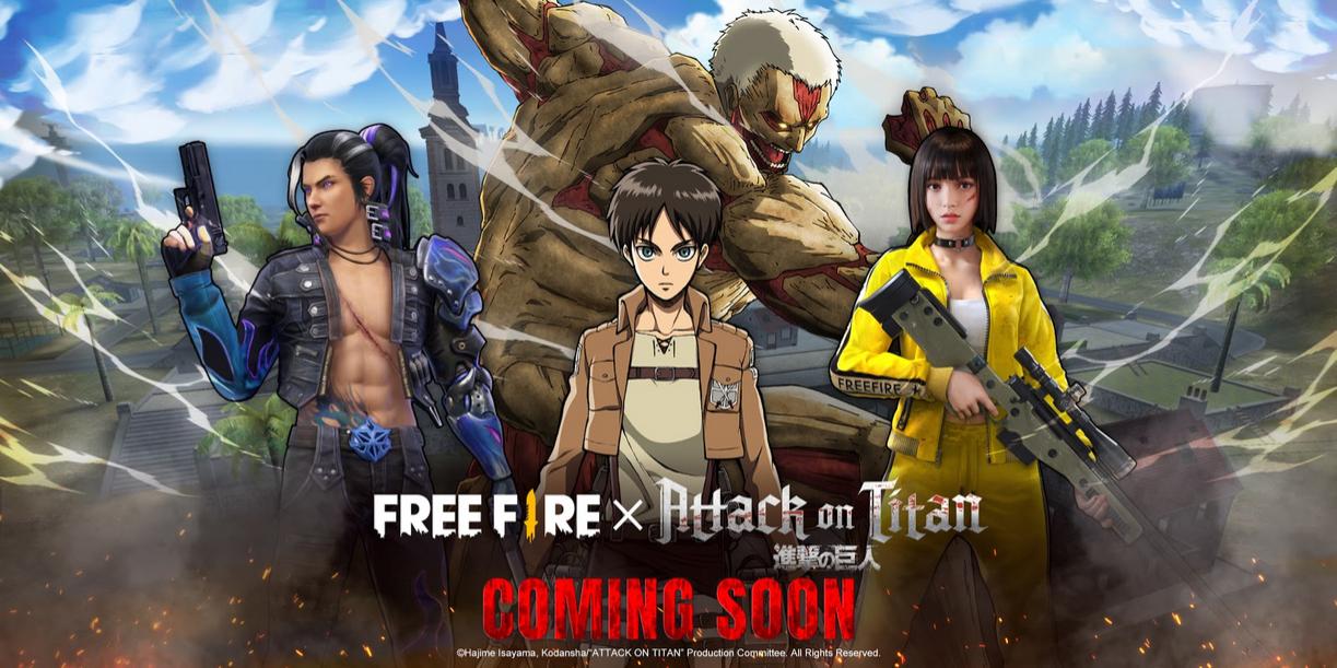 Free Fire, Attack on Titan