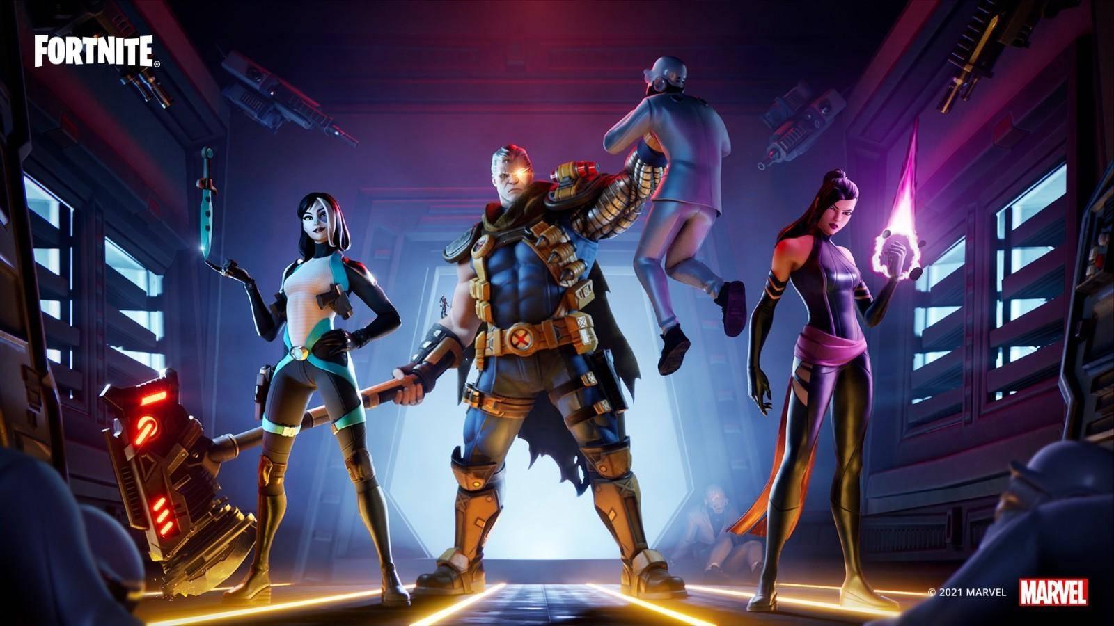 Fortnite, Ant-man, Cable, Psylocke, Domino