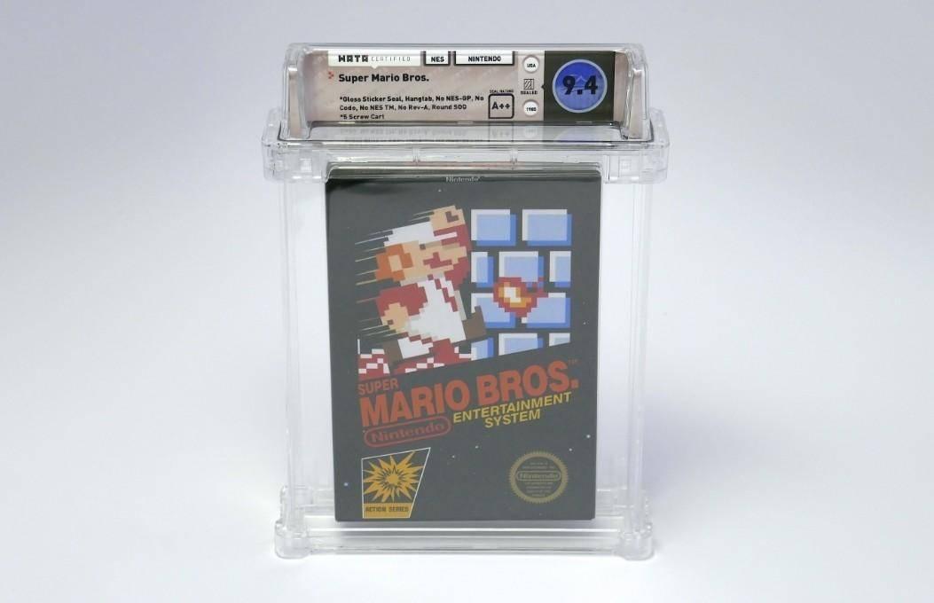 Super Mario Bros.: Un coleccionista pago 13 millones de pesos por una copia sellada del famoso juego del plomero.