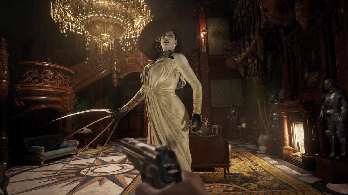 Resident Evil Village, Capcom Japón realiza un concurso por la nueva demo, con una toalla tamaño real de Lady Dimitrescu como premio.