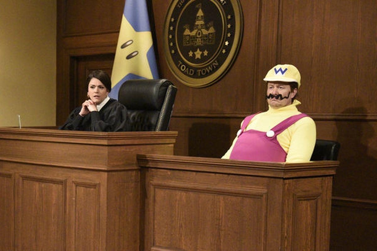 Elon Musk se disfraza de Wario en una parodia del programa estadounidense Saturday Night Live.