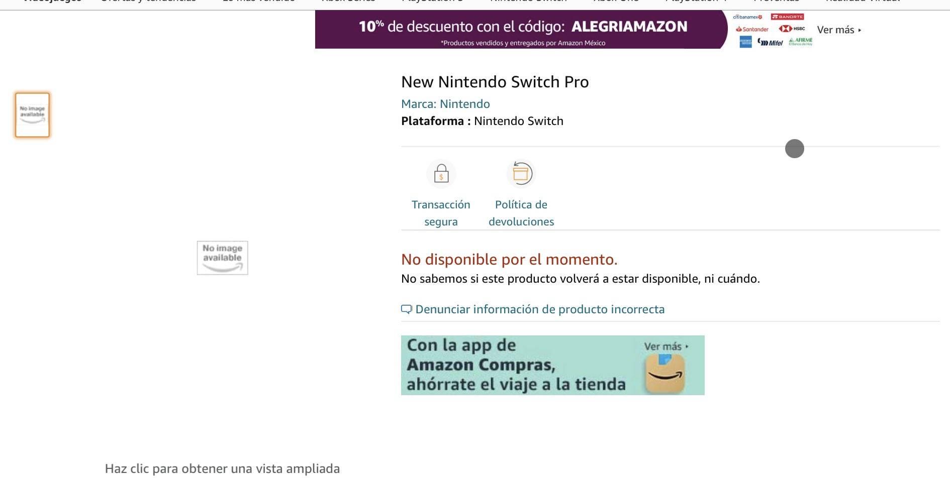 Nintendo Switch Pro: ¡Es real, y Amazon México lo ha filtrado! 1
