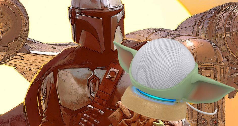 Star Wars: Transforma tu Amazon EchoDot en Grogu con este nuevo soporte de Otterbox