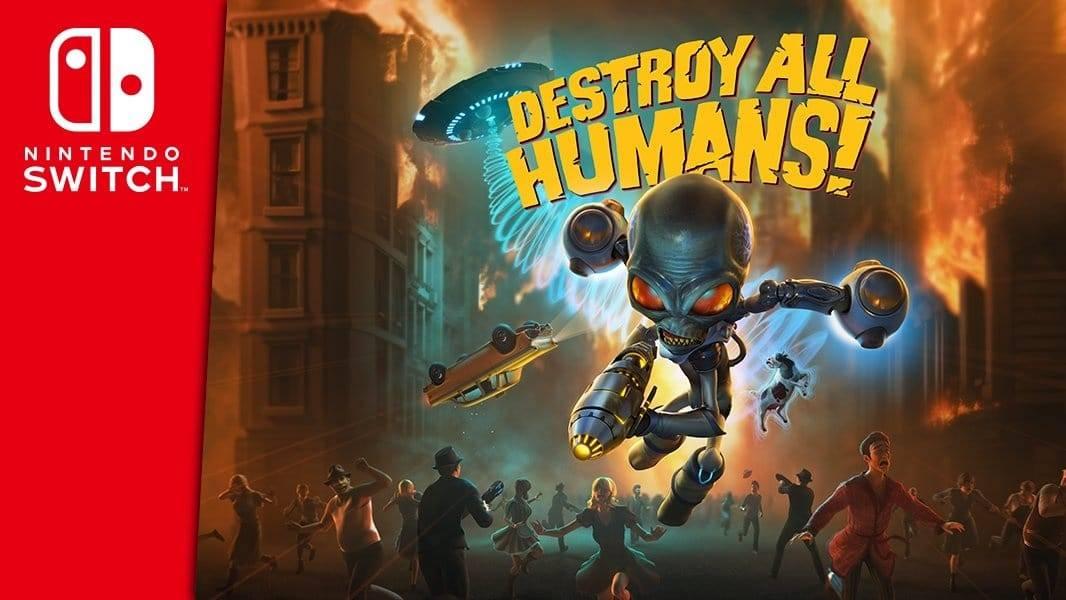 Destroy all Humans llega a Nintendo Switch con todo el contenido lanzado anteriormente.