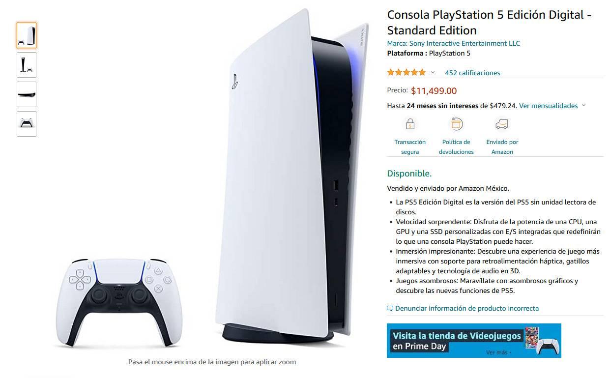 Amazon Prime Day trae de vuelta al PS5 hasta un precio bajo histórico 1
