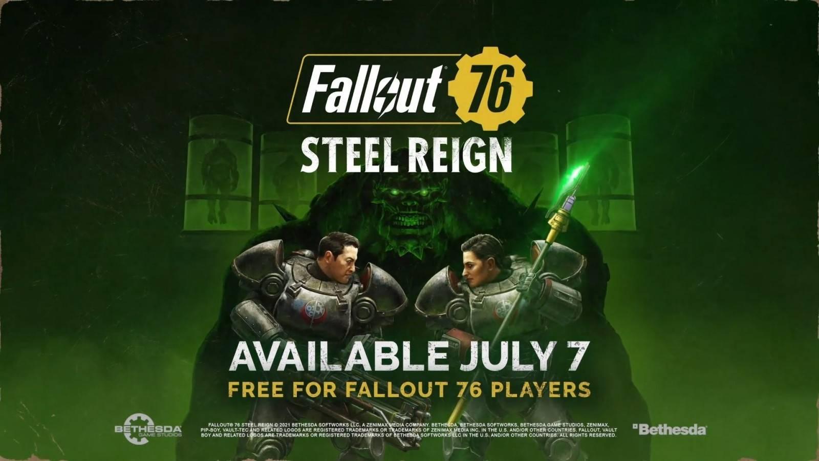 Fallout 76 Steel Reign llegará el 7 de Julio