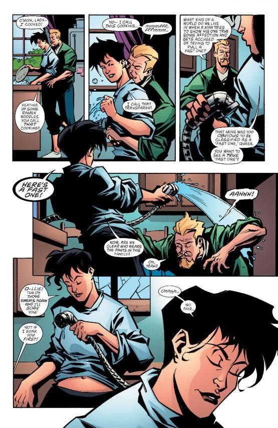 Batman, Harley Quinn, Catwoman, Oliver Queen, Green Arrow