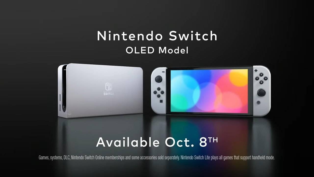 Este es el nuevo modelo del Nintendo Switch: OLED 1