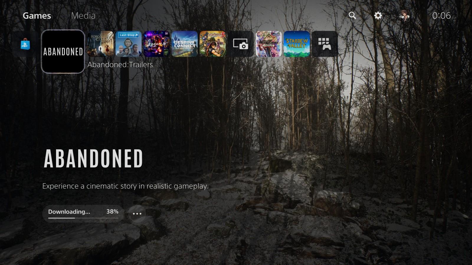 Ya puedes descargar la aplicación de Abandoned en PlayStation 5 1