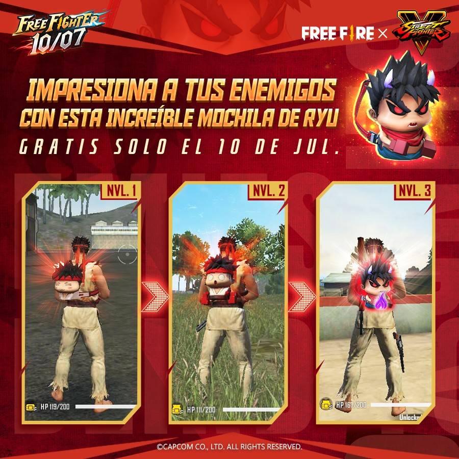 La colaboración entre Free Fire y Street Fighter V llegará a su fin este 10 de Julio 1
